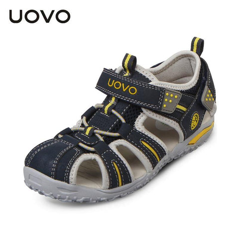 UOVO brand  summer beach kids shoes closed toe sandals for boys and girls designer toddler sandals for 4 - 15 years old kids