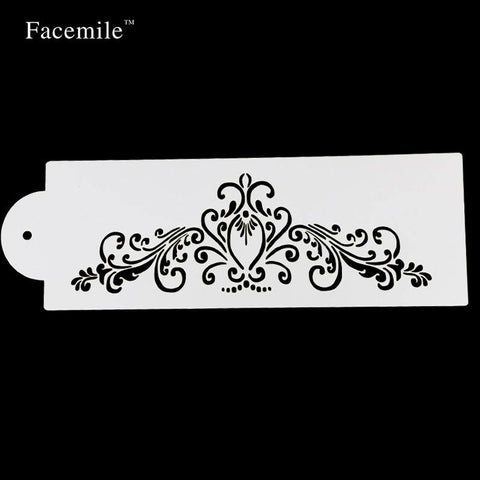 Bakeware Tool  Baking Kitchen Accessories Flower Fondant Cake Decorating Tools Cake Stencil Template Mold Pad 52044