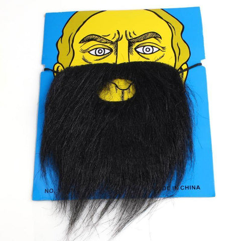 Creative Funny Fancy Halloween Party Fake Beard Moustache Mustache Facial Hair Costume Black -RF