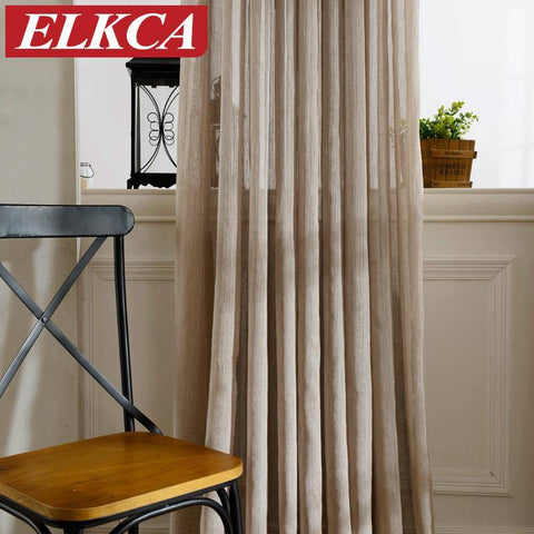 Japan Solid Tulle Curtains for Living Room Window Curtains for Bedroom Kitchen  Modern Sheer  Voile Drapes 1PC