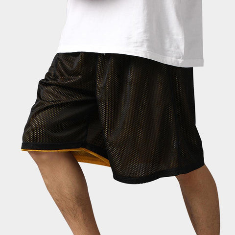 Reversible Casual Shorts Men Summer Double-Way Breathable Sporting Basketballs Shorts