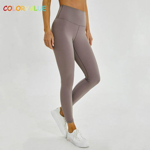 Classical 2.0Versions Soft Naked-Feel Athletic Fitness Leggings  Stretchy High Waist Gym Sport Tights Yoga Pants