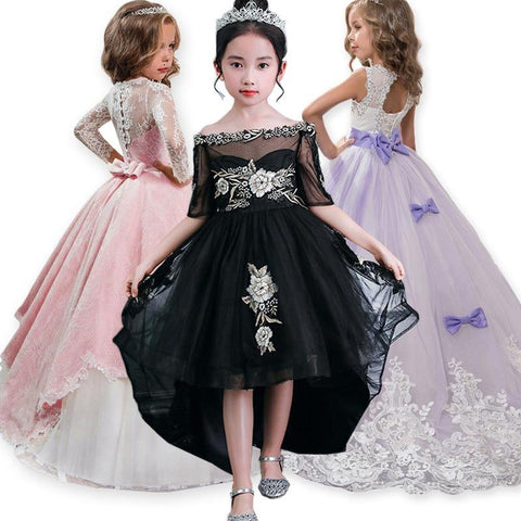 Elegant Girls Princess Dress Summer Children Evening Party Dress Girl Costume Kids Dresses For Girls Wedding Dress