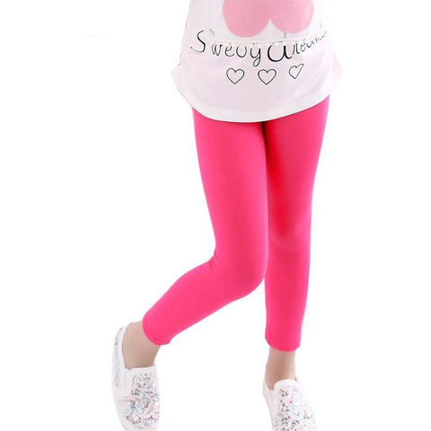 Girl pants  Candy color  girls leggings Toddler classic Leggings 2-13Y children trousers baby  kids leggings