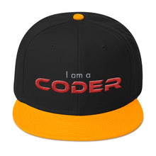 Load image into Gallery viewer, I am a Coder Snapback Hat
