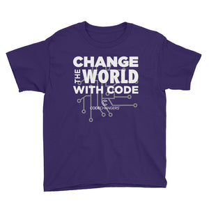 Change The World With Code Youth Short Sleeve T-Shirt
