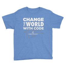 Load image into Gallery viewer, Change The World With Code Youth Short Sleeve T-Shirt