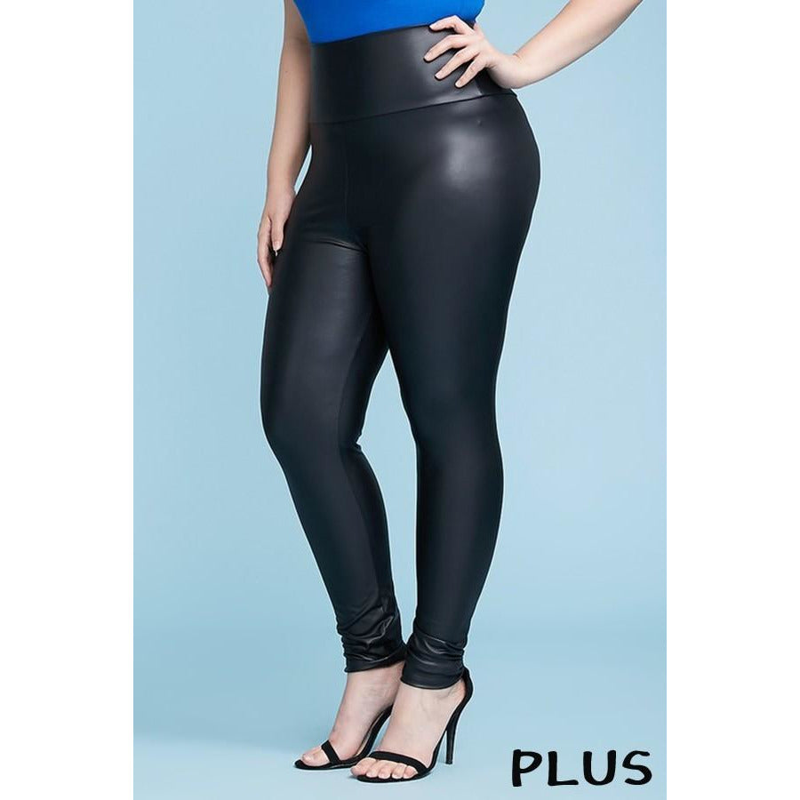 Faux Leather Leggings - Plus