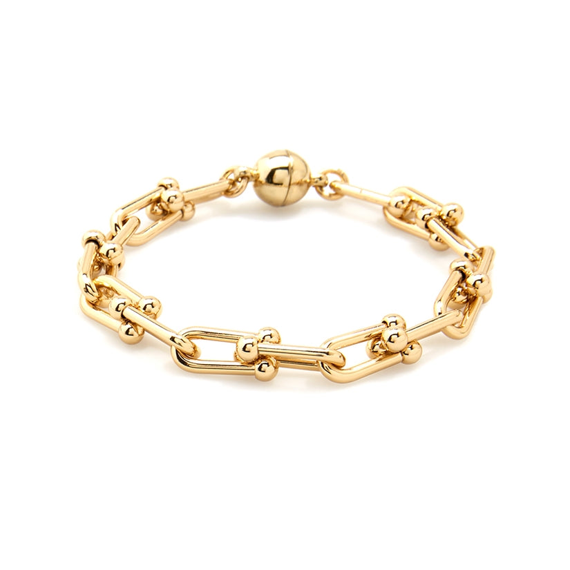 Gold Linked Clips Bracelet