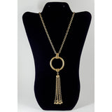 Bronze Tassel Necklace