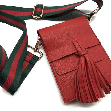 Red Tassel Crossbody