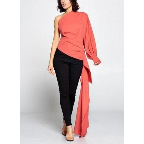 Mutton Sleeve High Low