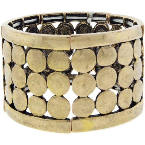 Worn Gold Metal Bracelet