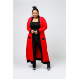 Red/Black Cardigan - Plus