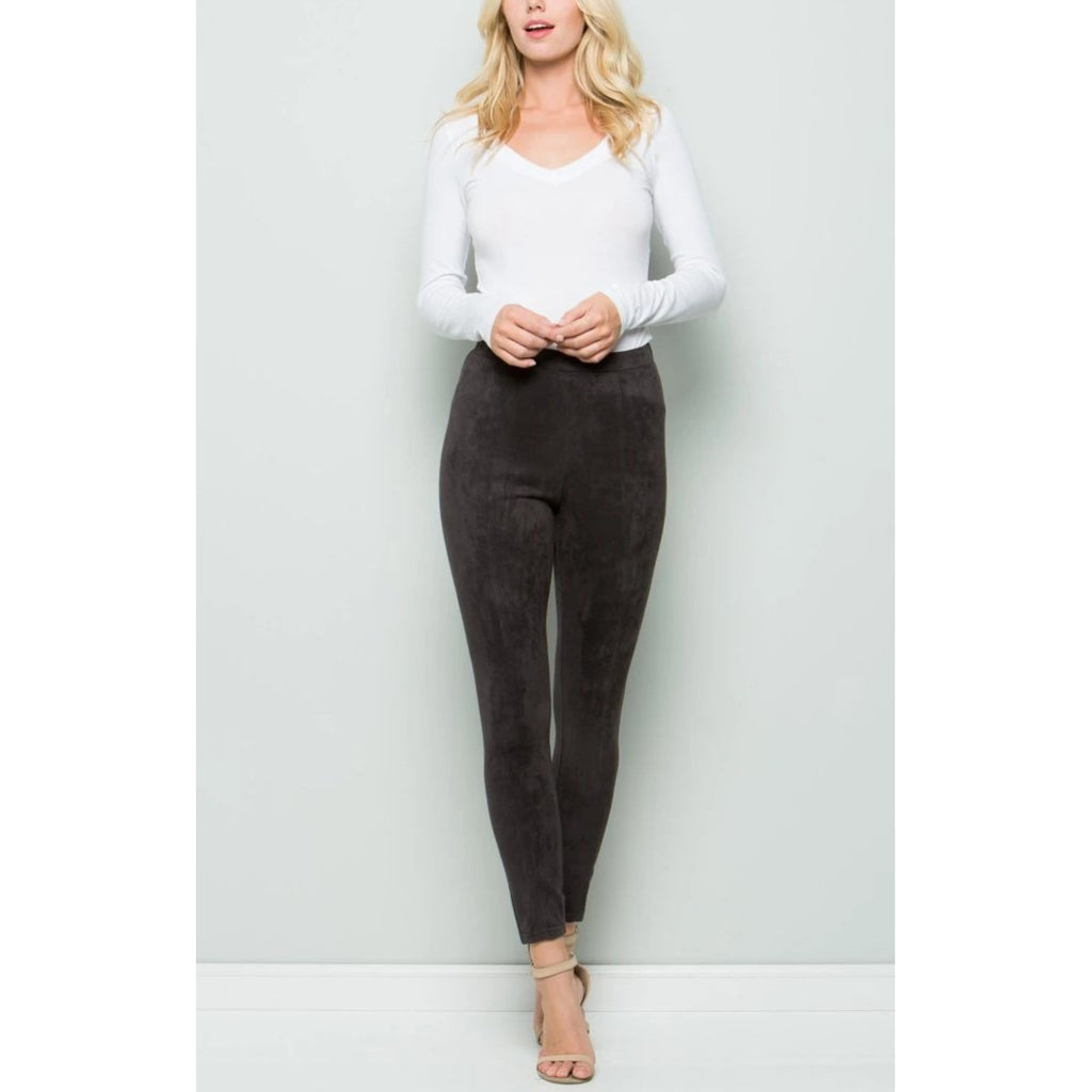 Stretch Suede Pants