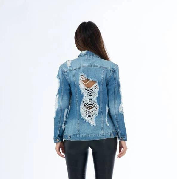 Oversize Denim Jacket (Dark Blue)