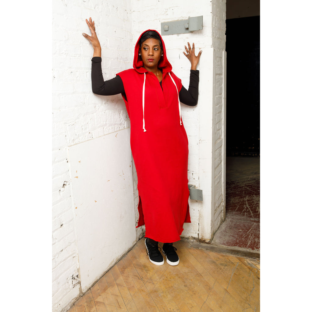 Red Is Red Hooded - Dress