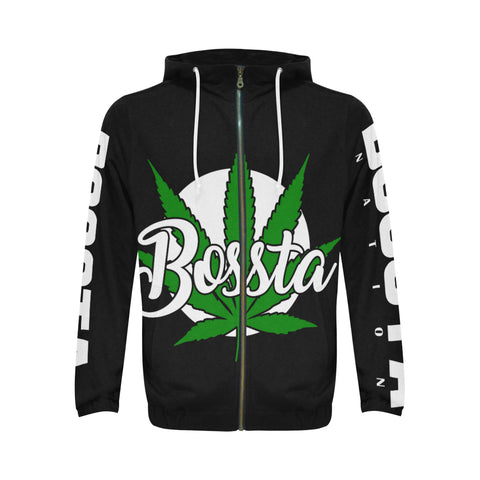 B Weeded Zip Hoodie All Over Print