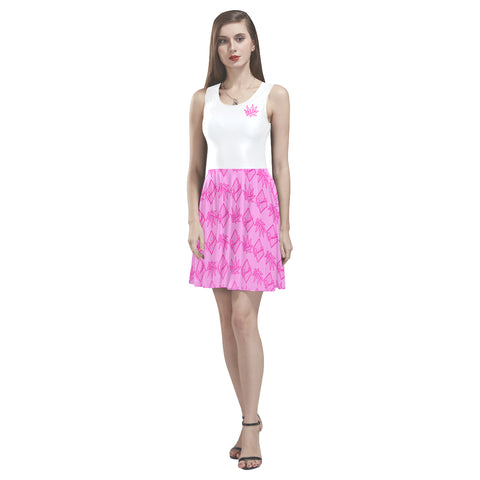 Heart Thea Sleeveless Skater Dress
