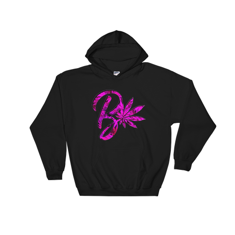 Pink B Leaf Hooded Sweatshirt