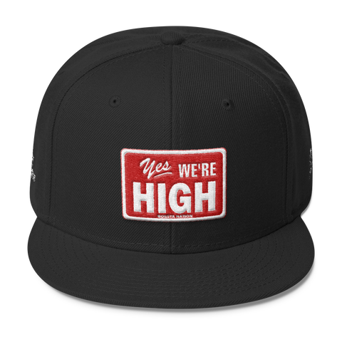Yes We're High Wool Blend Snapback