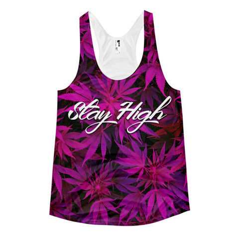 Stay High Women's Racerback Tank