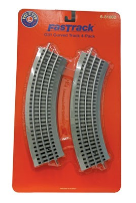 Lionel 6-81862 Fastrack O31 Curve 4-Pack