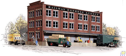 Walthers 933-3095 HO Railway Express Agency Building Kit
