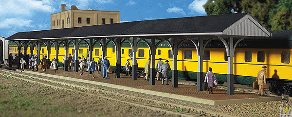 Walthers 933-3188 HO Wood Station Shed & Platform Kit - Includes 4 Sections