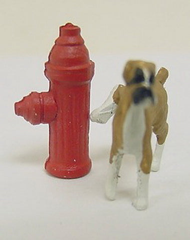 Arttista 1142 Dog and Fire Hydrant Pewter Figure