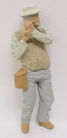 Arttista 1156 Fisherman Pewter Figure