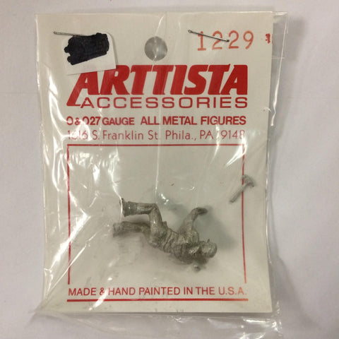 Arttista 1229 Carpenter on Knees Pewter Figure Unpainted