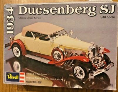 Revell 1268 1:48 Scale 1934 Duesenberg SJ Building Kit