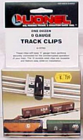 Lionel 6-12743 O Gauge Tubular Track Clips (Box of 12) LN/Box