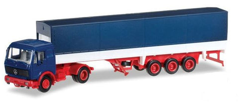 Herpa 12782 HO MAN F8 Tractor with Low-Side Trailer & Cover - Minikit