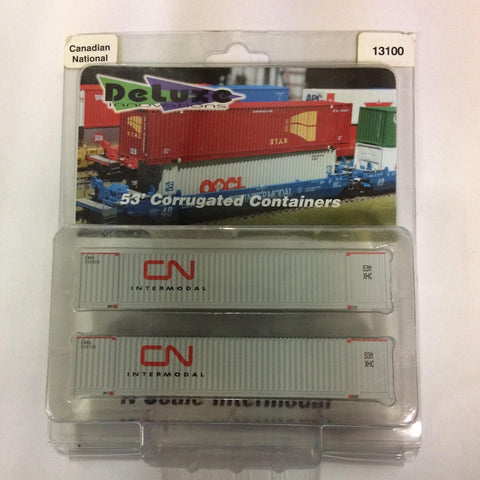 Deluxe Innovations 13100 N Scale Canadian National 53' Corrugated Containers