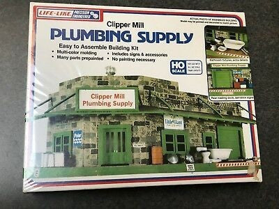 Life Like 1357 HO Clipper Mill Plumbing Supply Building Kit