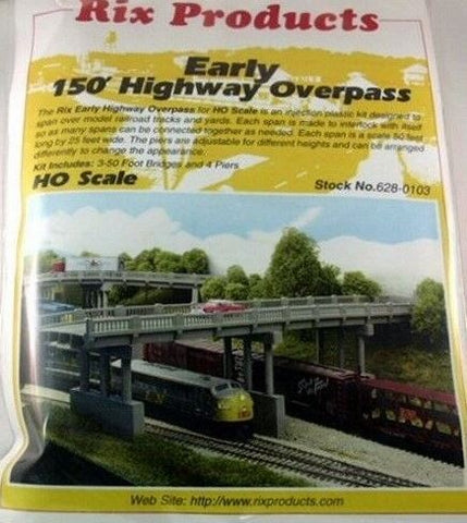 Rix Products 628-0103 HO Early 150' Highway Overpass Building Kit