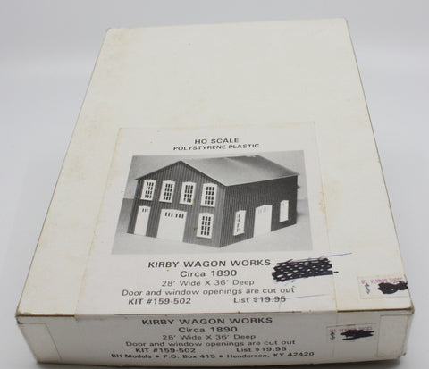 BH Models 159-502 HO Scale Kirby Wagon Works Building Kit