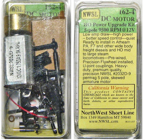 Northwest Short Line 1624 HO Repower Kit for Wide Diesels,Switchers with NWSL 2032D9 Motor