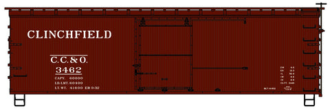 Accurail 1708 HO Clinchfield 1700 Series 36' Double Sheath Wood Boxcar