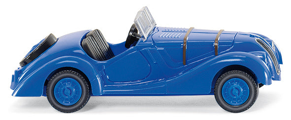 Wiking 82803 HO BMW 328 Convertible Top Down Blue