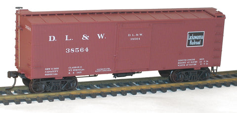 Accurail 1802 HO Delaware Lacakawanna Western 36' DS Boxcar #38564