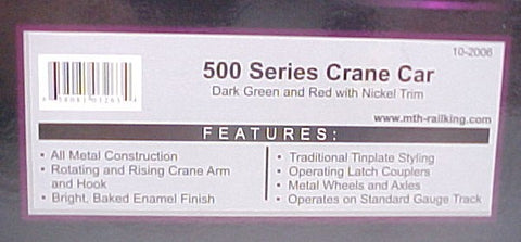 MTH 10-2006 Standard Gauge 500 Series Crane Car