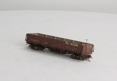Blackstone Models 340551W HOn3 Denver & Rio Grande Western Drop Bottom Gondola #801 - Weathered