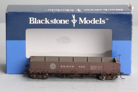 Blackstone Models 340553W HOn3 Denver & Rio Grande Western Drop Bottom Gondola #826 - Weathered