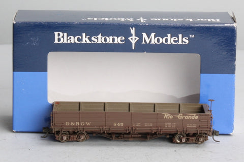 Blackstone Models 340555W HOn3 Denver & Rio Grande Western Drop Bottom Gondola #845 - Weathered