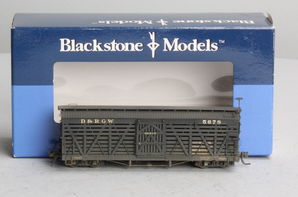 Blackstone Models 340209W HOn3 Denver & Rio Grande Western 5500-Series 30' Stock Car #5678 - Wthrd