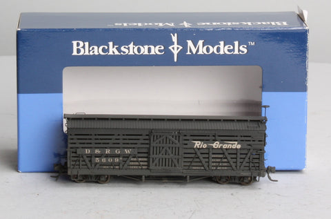 Blackstone Models 340218W HOn3 Denver & Rio Grande Western 5500-Series 30' Stock Car #5609 - Wthrd