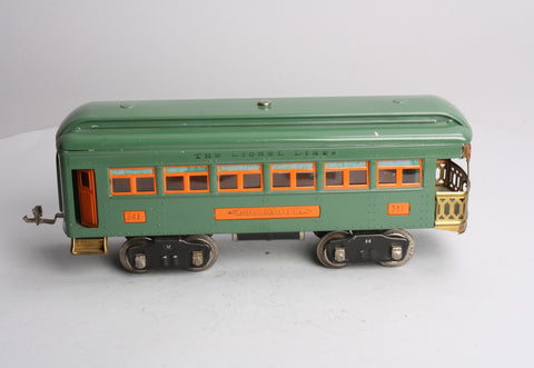 Lionel 341 Standard Gauge Prewar Observation Car (Restored)